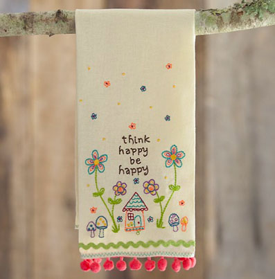 A photo of the Think Happy Linen Handtowel product