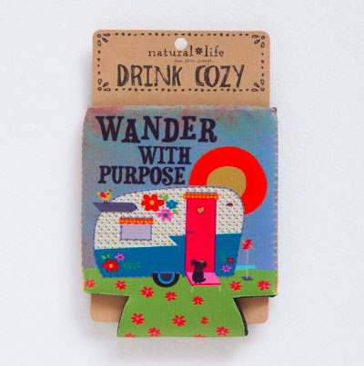 A photo of the Wonder with Purpose Drink Cozy product