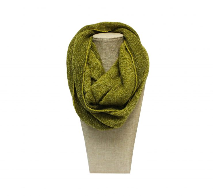 A photo of the Fall Green Infinity Scarf product
