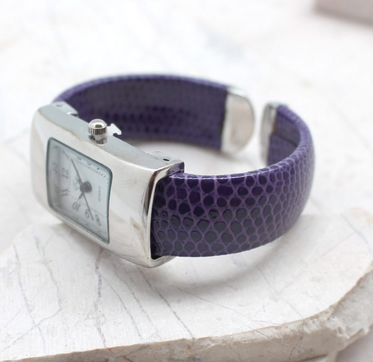 A photo of the Small Rectangle Face Cuff Watch product