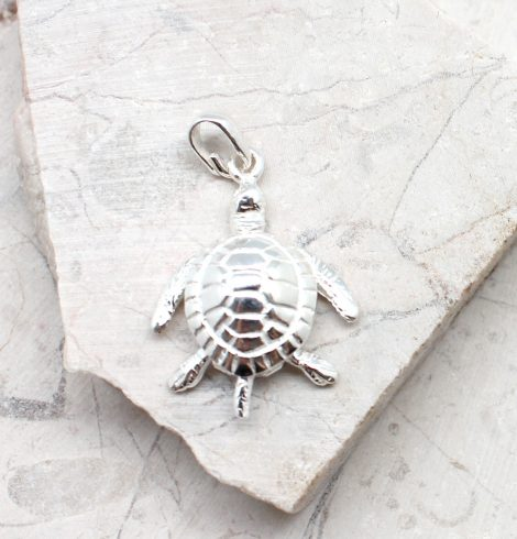 A photo of the The Dancing Turtle Pendant product