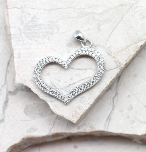 A photo of the The Sparkle Heart Pendant product
