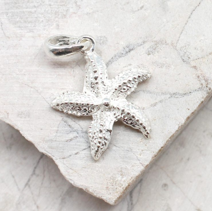 A photo of the The Textured Starfish Pendant product