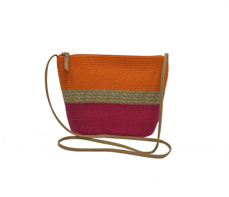 A photo of the Orange Straw Bag product