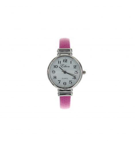 round_face_stingray_cuff_watch_pink