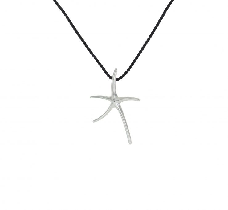 A photo of the Uneven Silver Starfish Pendant / Pin product