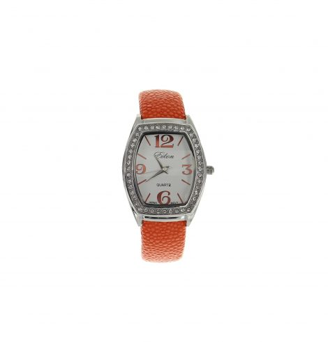 stingray_&_rhinestones_watch_orange