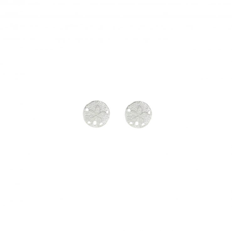 A photo of the Textured Sand Dollar Studs product