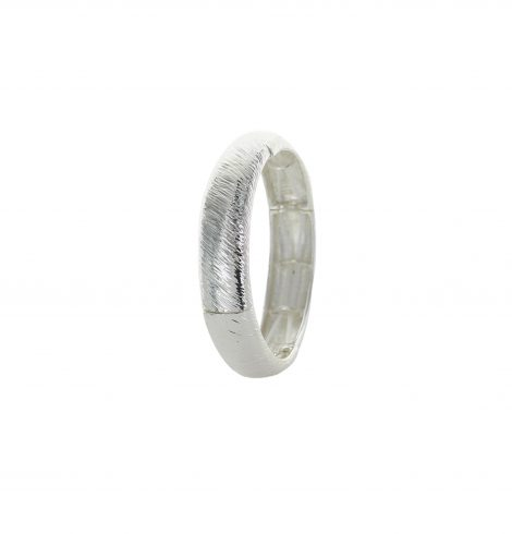 A photo of the Wide Brushed Texture Stretch Bangle product