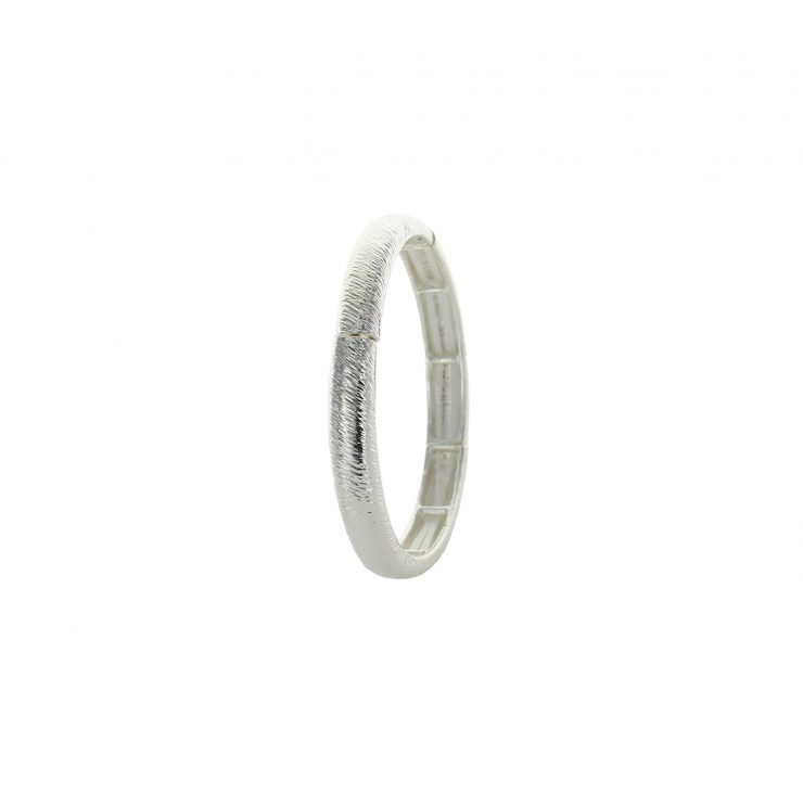 A photo of the Thin Brushed Texture Stretch Bangle product
