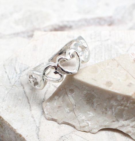 A photo of the The Heart Toe Ring product