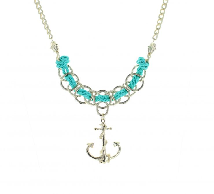 A photo of the Anchor Rope Necklace product