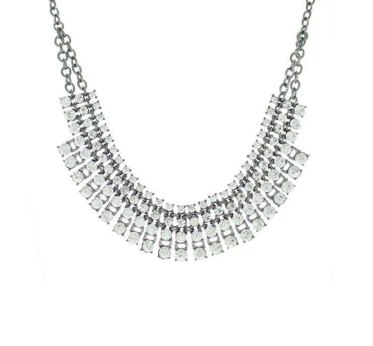 A photo of the Rhinestone Statement Necklace product