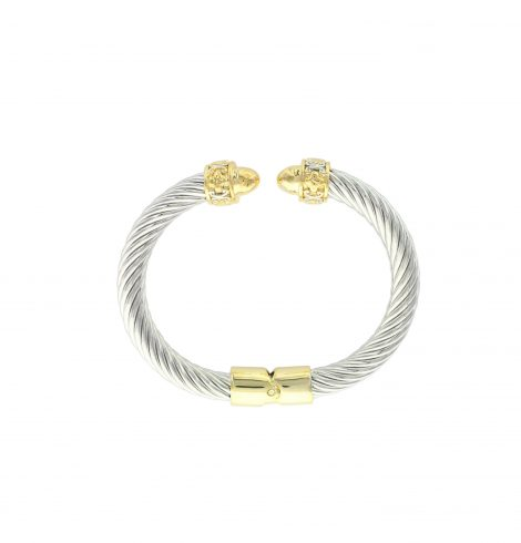 A photo of the Two Tone Design Cable Bracelet product