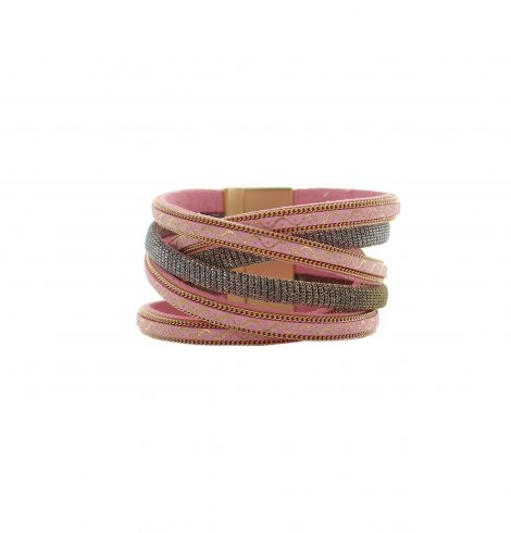 A photo of the Leather Mesh Magnetic Bracelet product