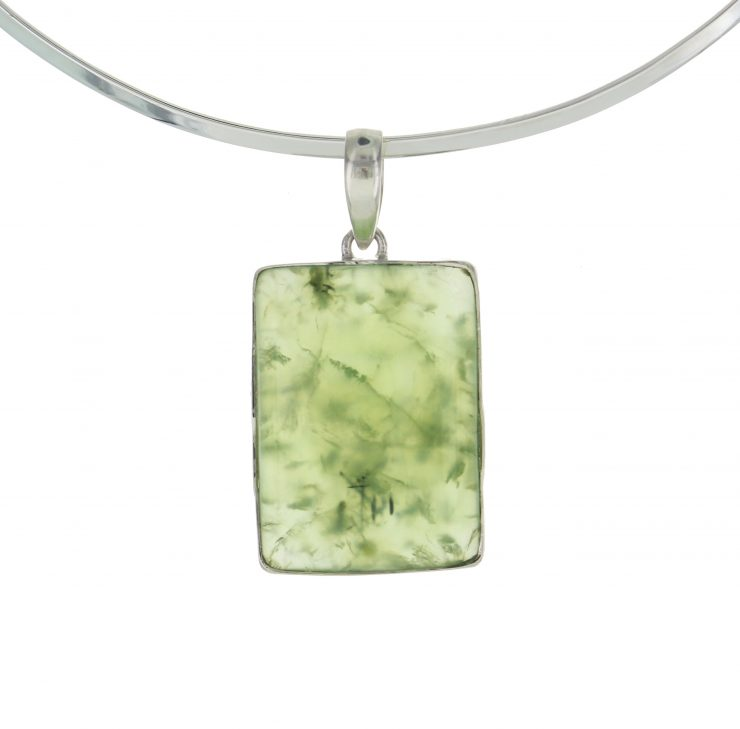 A photo of the Sterling Silver Aventurine Rectangular Pendant product