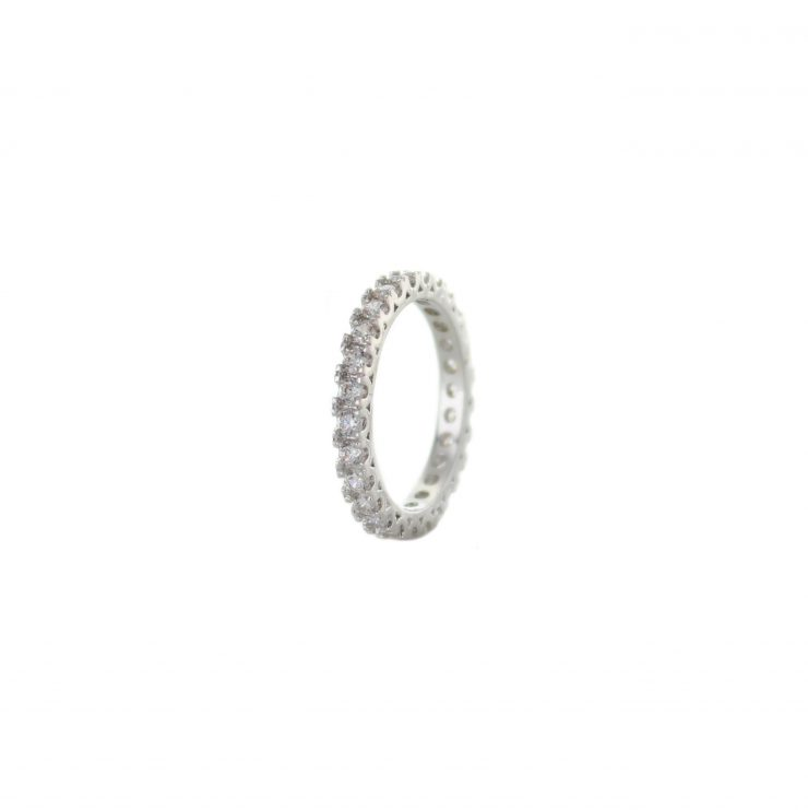 A photo of the 3 Gems Two Tone Ring product