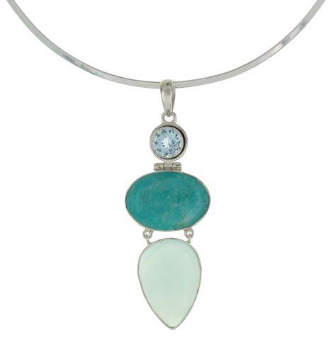 turquoise_diamont_cut_gem_sterling_silver_pendant