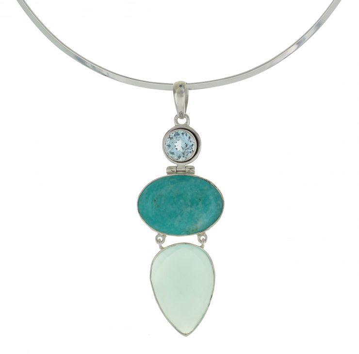 A photo of the Turquoise & Aquamarine Pendant product