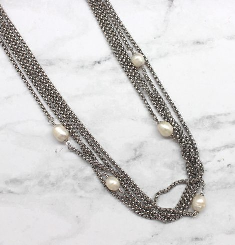 A photo of the Multistrand Pearl Necklace product