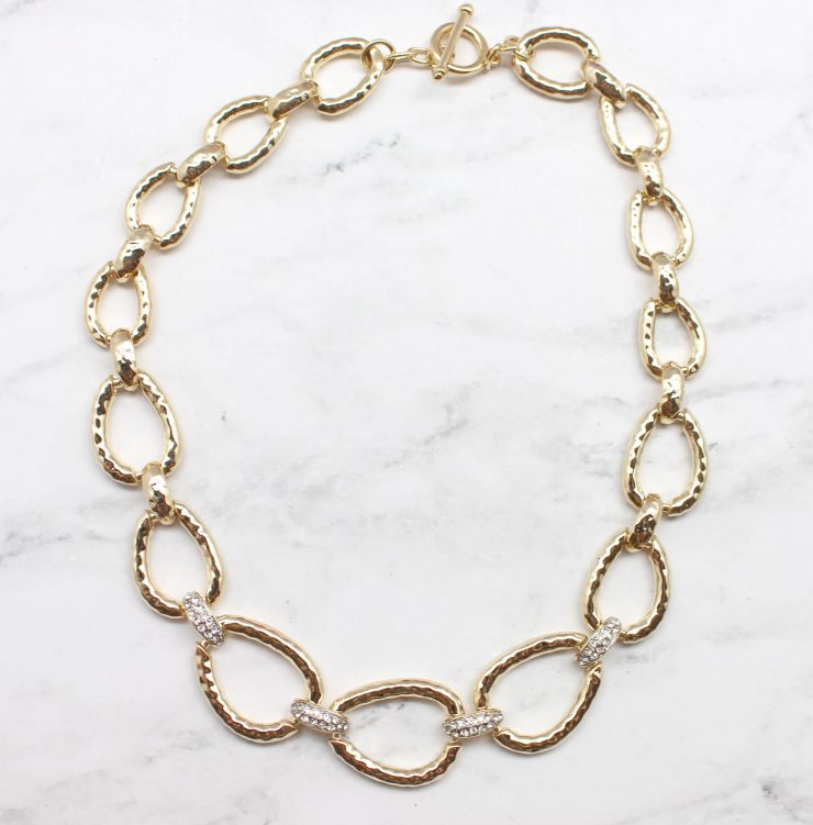 A photo of the Rhinestone Links Necklace product