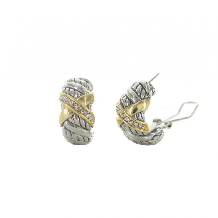A photo of the Oval Scroll Design Earrings product