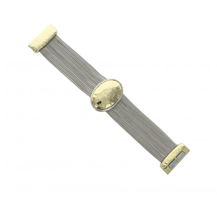 A photo of the Multistrand Golden Oval Bracelet product