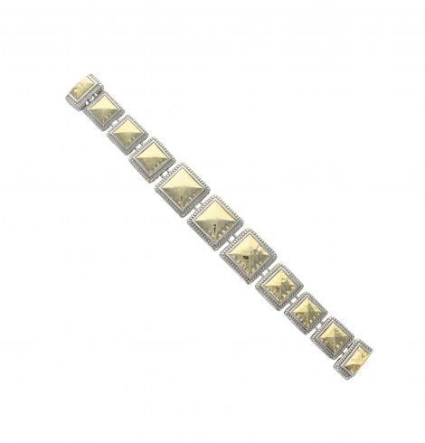 A photo of the Multistrand Golden Oval Bracelet product