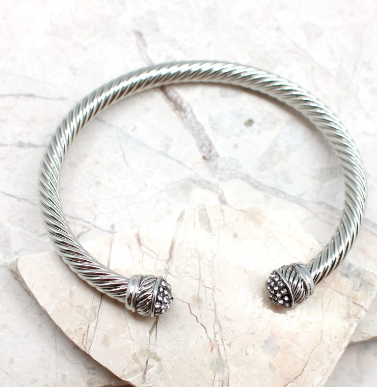 A photo of the The Classic Rhinestone Cuff Bracelet product