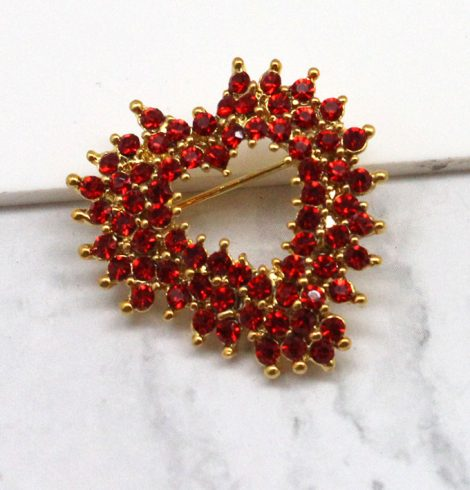 A photo of the Red Burst Heart Pin product