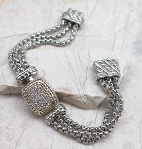 A photo of the Rhinestones Chain Bracelet product