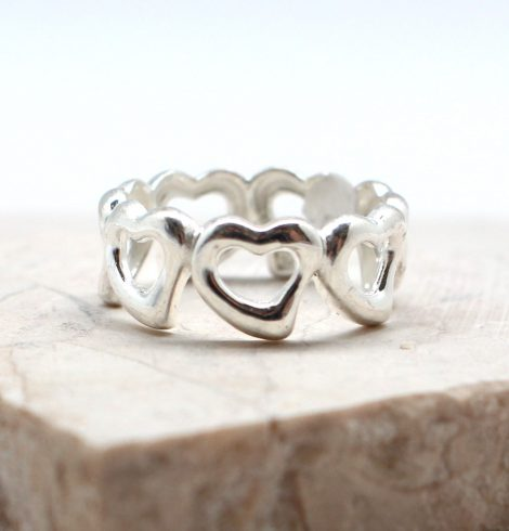 A photo of the The Forever Hearts Ring product