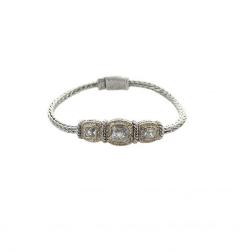 A photo of the Cobra Chain Gemstone Bracelet product