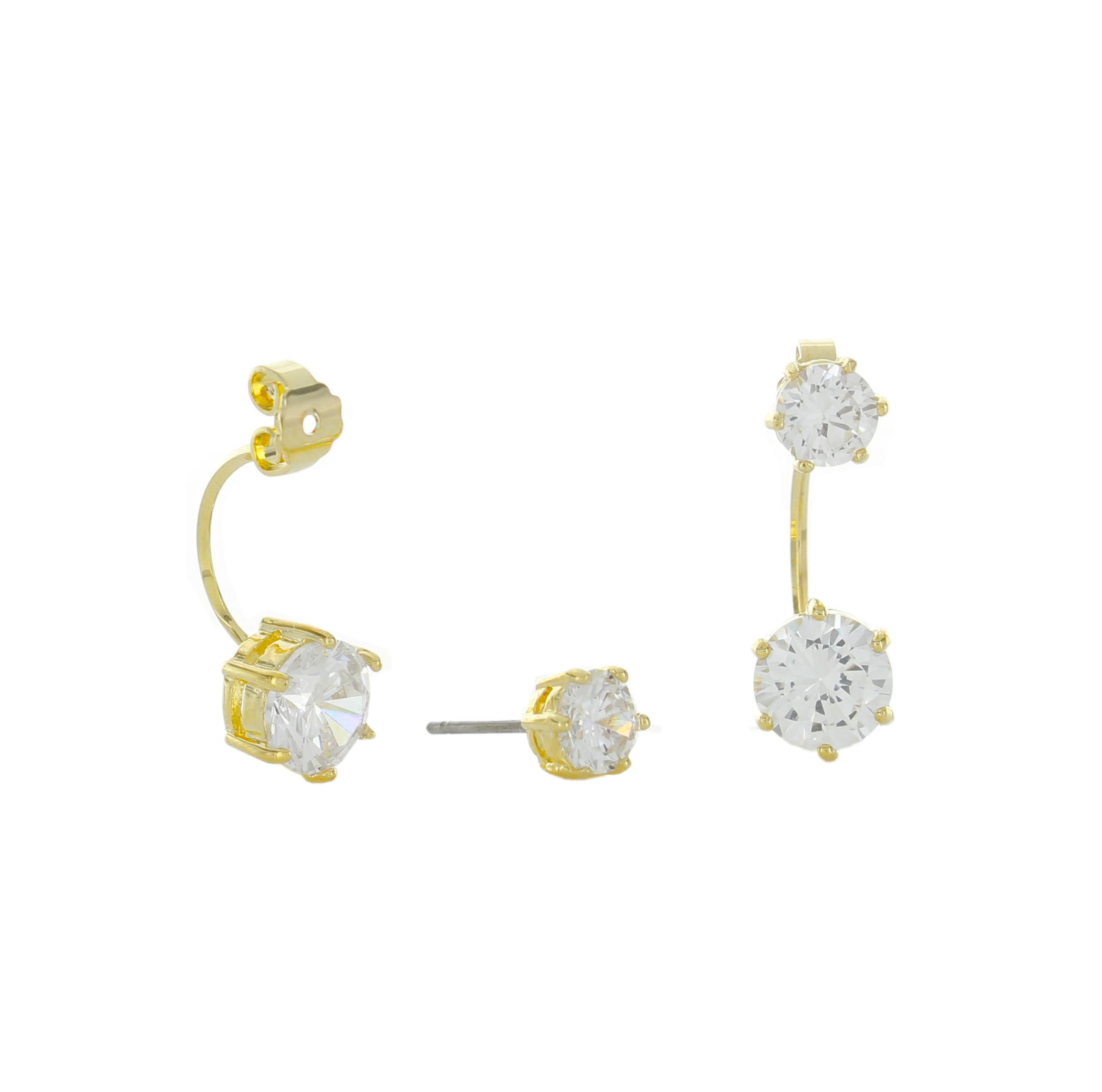 Cubic Zirconia Earring Jacket