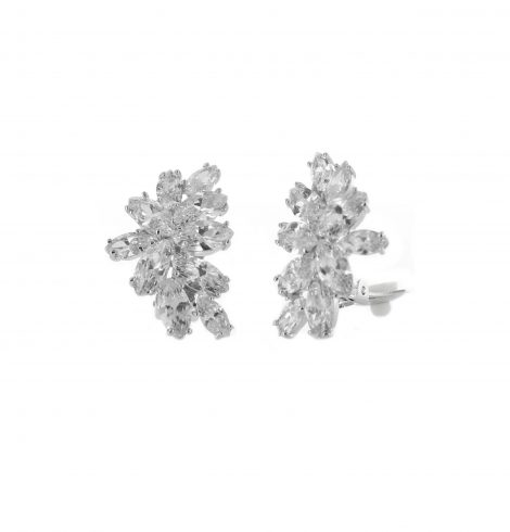 A photo of the Rhinestone Flare  Clip On Earrings product