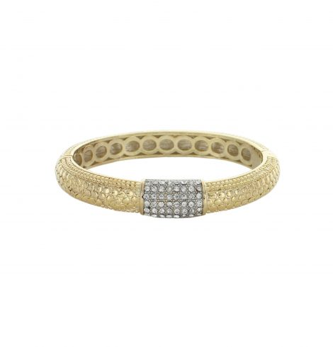 gold_dotted_bangle_with_silver_rhinestones