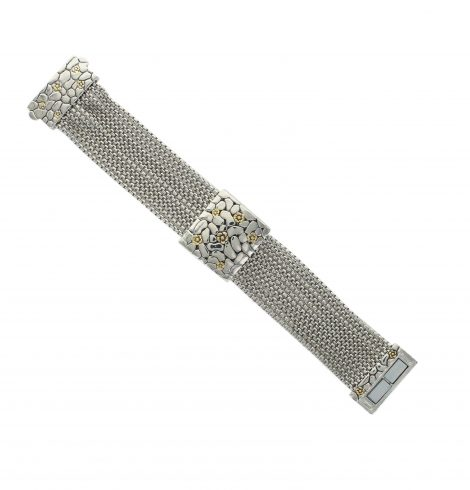 A photo of the Textured Square Multistrand Bracelet product