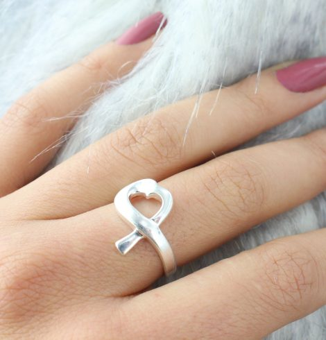 A photo of the Sideways Heart Sterling Silver Ring product