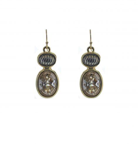 oval_gold_trim+earrings_clear