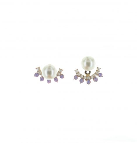 A photo of the Pink Gems Earrings Jacket product