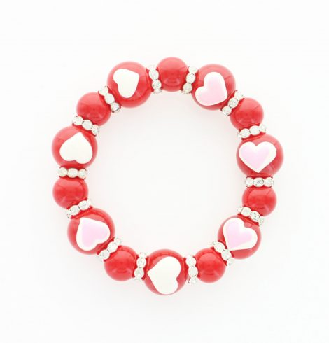 A photo of the Red Valentine Stretch Bracelet product