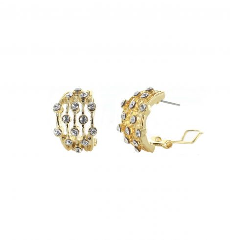 A photo of the Gold Rhinestone Lines Earrings product