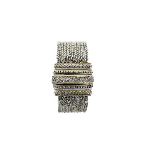A photo of the Multi Strand Rhinestone Magnetic Bracelet product