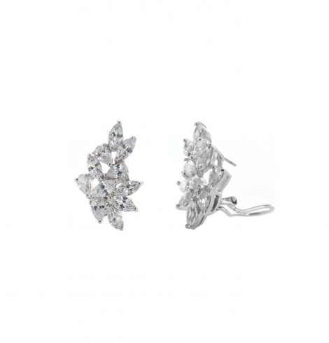 A photo of the CZ Burst Pierced Earrings product