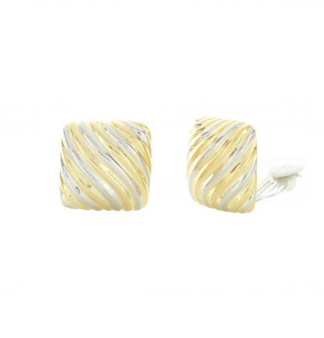 wave_lines_squares_clipon_earrings_twotone