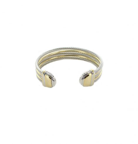 A photo of the Gold Trim Cable Cuff product