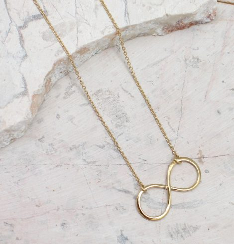 A photo of the Round Infinity Necklace product