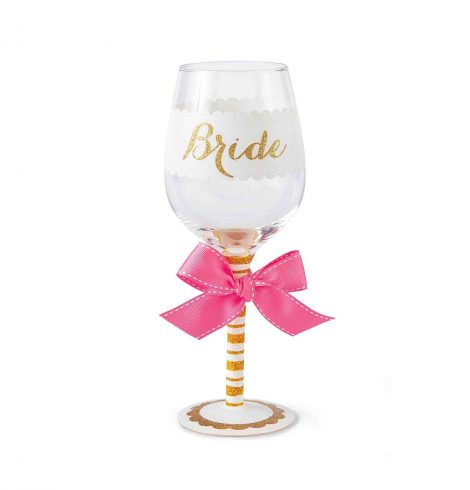 A photo of the Bride Wine Glass product