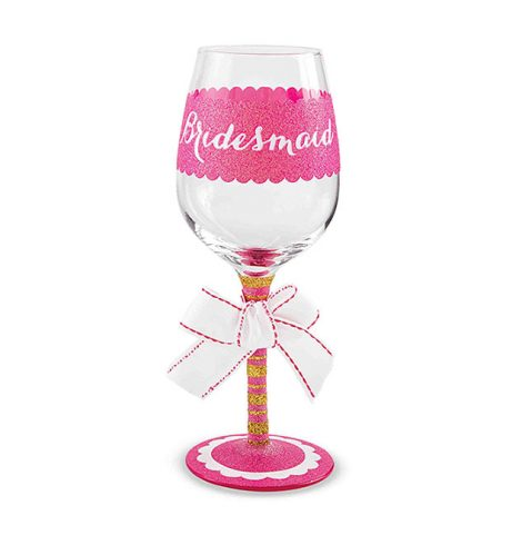 A photo of the Bridesmaid Wine Glass product
