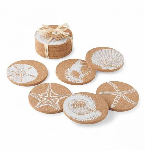 shell_printed_cork_coasters